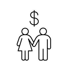 Family budget linear icon vector
