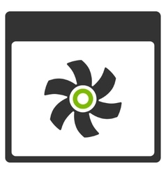 Fan Calendar Page Flat Icon vector
