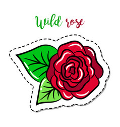 Fashion patch element rose vector