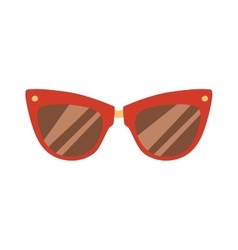 Fashion red glasses vector image