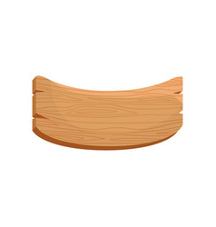 flat icon of curved wooden board with vector image