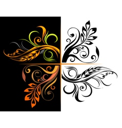 Floral corners vector image