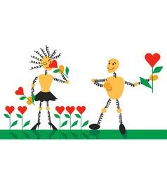 flowers romance vector image