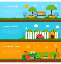 Gardening banner set vector