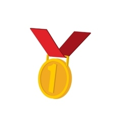 Golden medal cartoon icon vector image