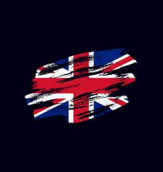 Grunge textured british flag vector