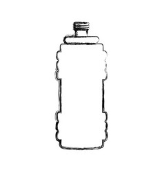 Gym thermo bottle vector