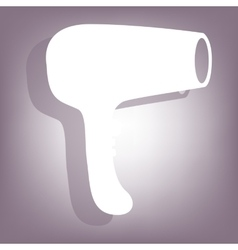 Hair Dryer icon with shadow vector image