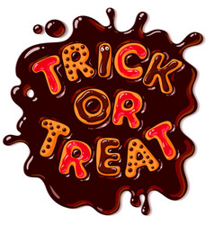 Halloween gingerbread cookies trick or treat vector