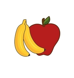 Healthy fruit food vector