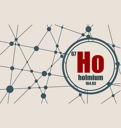 holmium chemical element vector image