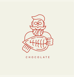 icon and logo for chocolate and sweet vector image