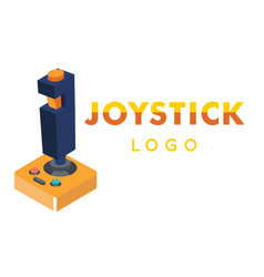 Joystick logo retro joystick background ima vector