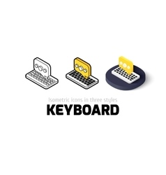 Keyboard icon in different style vector
