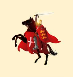king richard lionheart holding a sword vector image
