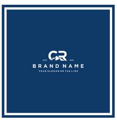 Letter cr mountain logo design vector