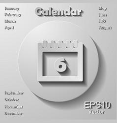 March 7calendar icon flat styledateday vector