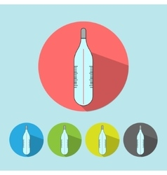 Medical icon thermometer tool vector image