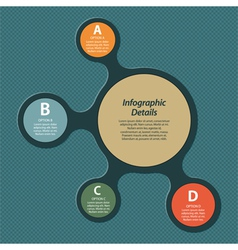 Metaball infographic vector