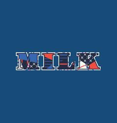 Milk concept word art vector