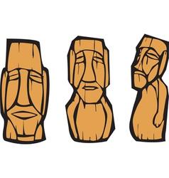 Moai statues vector