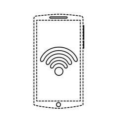 mobile phone gadget wifi internet screen vector image
