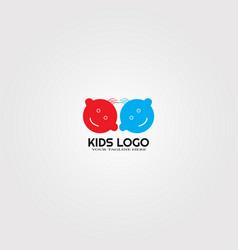 Modern baby kids logo templates logos vector