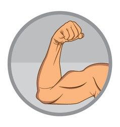 Muscular biceps eps10 vector