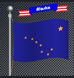 National flag alaska vector