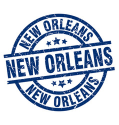 New orleans blue round grunge stamp vector