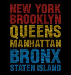 New york brooklyn queens bronx staten island vector