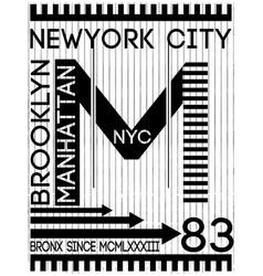 nyc new york stock t-shirt design print design vector image