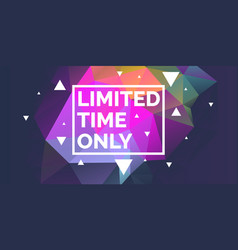 original poster for discount abstract polygonal vector image