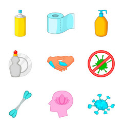 personal hygiene icon set cartoon style vector image