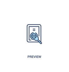preview concept 2 colored icon simple line vector image
