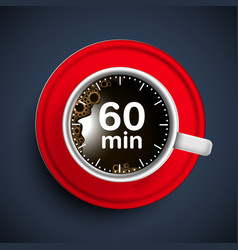 realistic coffee time vector image