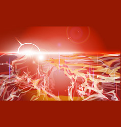 Red abstract landscape background pied colorful vector