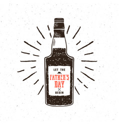 rum bottle in retro style with sigh - let the vector image