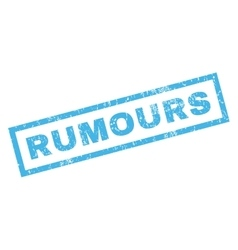 Rumours Rubber Stamp vector