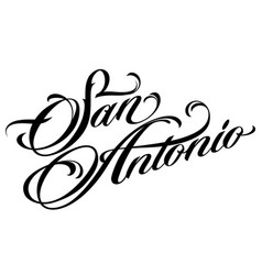San antonio tattoo lettering vector