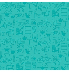 Seamless pattern retro home icons vector