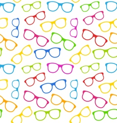 Seamless Texture with Colorful Eyeglasses vector