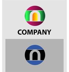 Set of letter N logo icons design template element vector image