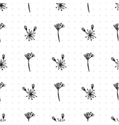 simple seamless pattern with realistic botanical vector image