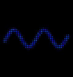 sinusoid wave halftone icon vector image