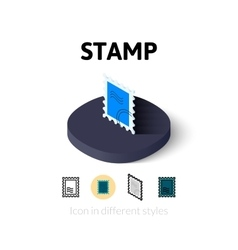 Stamp icon in different style vector image