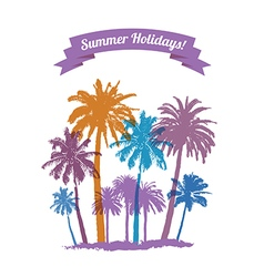 Summer traveling vector