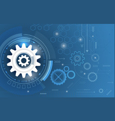 technological abstract background with gear vector image