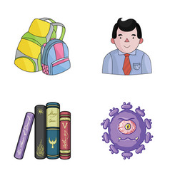 tentacles education and other web icon in cartoon vector image