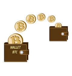 Transfer bitcoin coins from one wallet to another vector